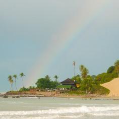 Arco-íris na praia